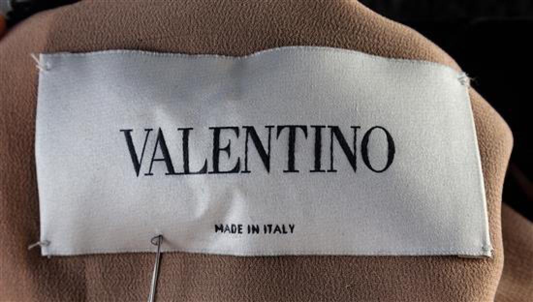 A Valentino Black Velvet Gown, Size 42. - 2