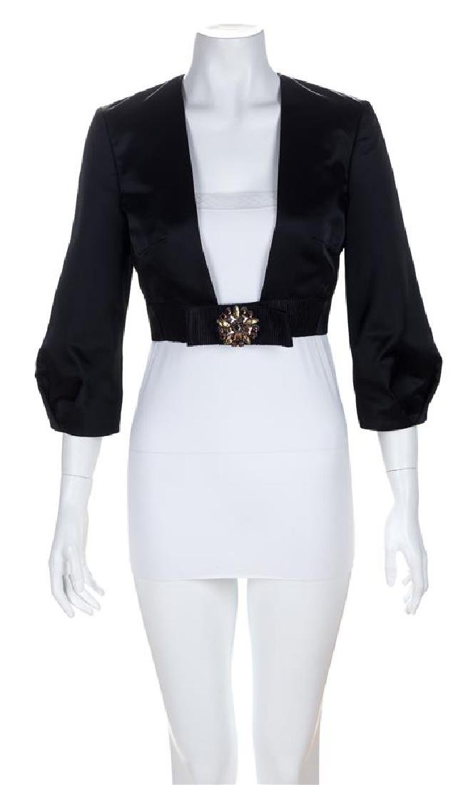 A Valentino Black Evening Bolero Jacket, Size 40.
