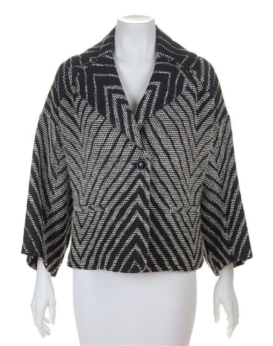 A Valentino Black and White Pattern Jacket, Size 8.
