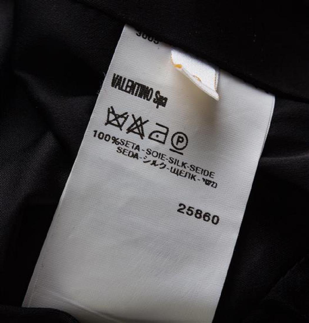 A Valentino Black Raw Silk Evening Skirt Suit, Skirt - 2