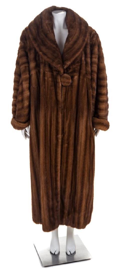 A Fendi Light Brown Mink Floor Length Coat, No size.