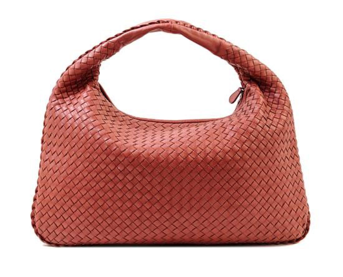 A Bottega Veneta Cinnamon Intrecciato Large Hobo Bag,