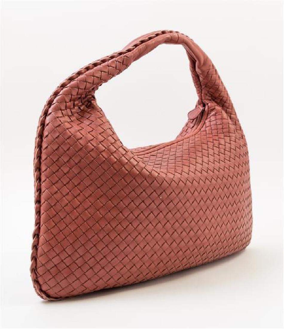 A Bottega Veneta Cinnamon Intrecciato Large Hobo Bag, - 2