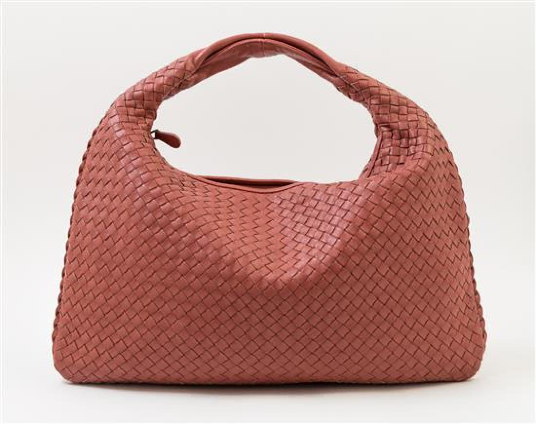 A Bottega Veneta Cinnamon Intrecciato Large Hobo Bag, - 3