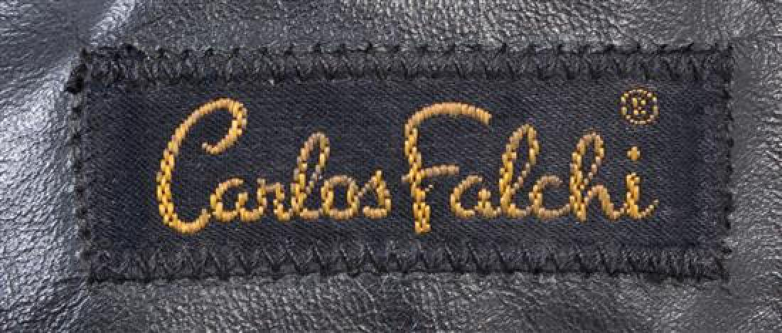 A Grouping of Three Carlos Falchi Leather and Snakeskin - 5