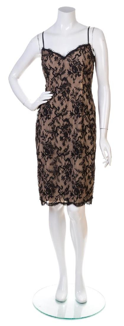 A Bill Blass Black Lace Slip Dress, Size 8.