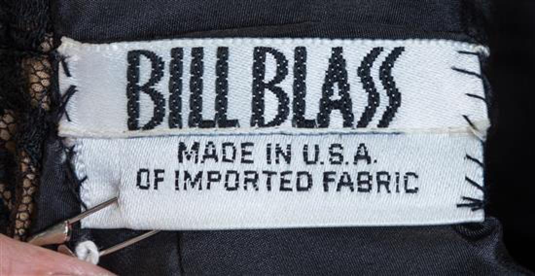 A Bill Blass Black Lace Slip Dress, Size 8. - 2
