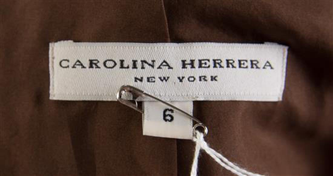 A Carolina Herrera Brown Suede Shirt, Size 6. - 2