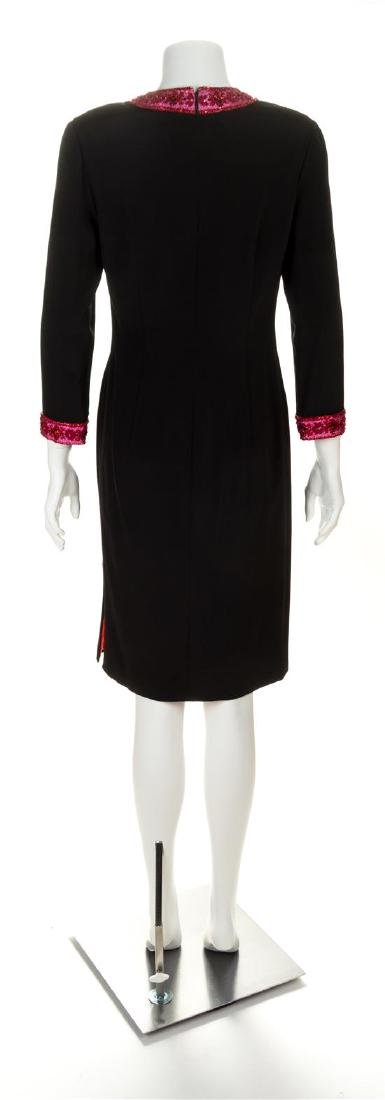 A Carolina Herrera Black Silk Cocktail Dress, Size 8. - 2