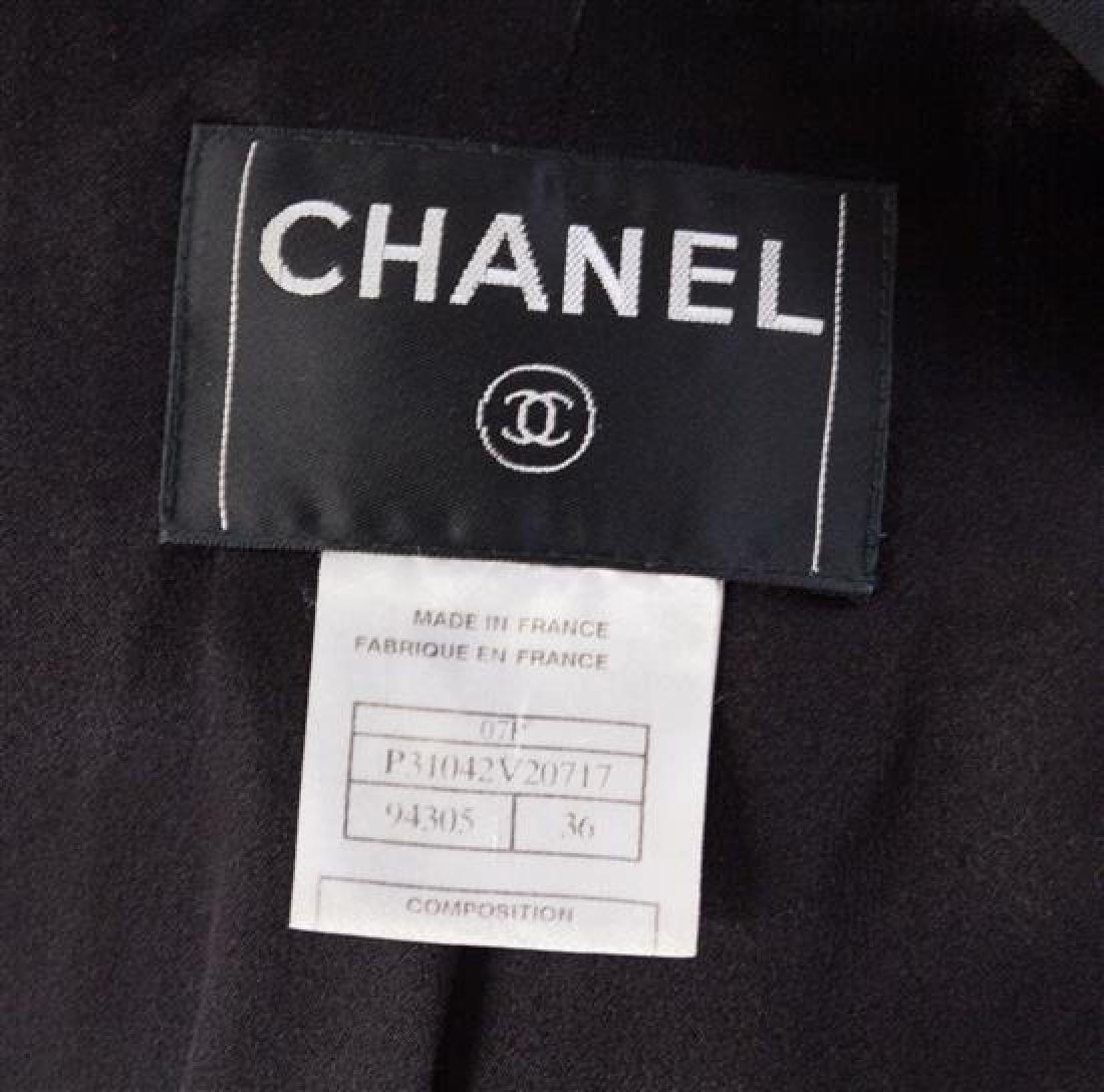 A Chanel Black Wool Oversized Jacket, Size 36. - 2