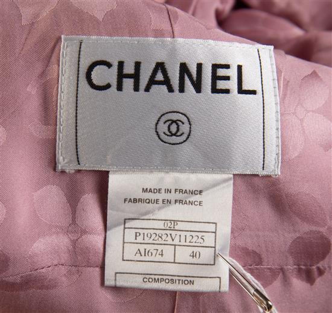 A Chanel Rose Cotton Jacket, Size 40. - 2