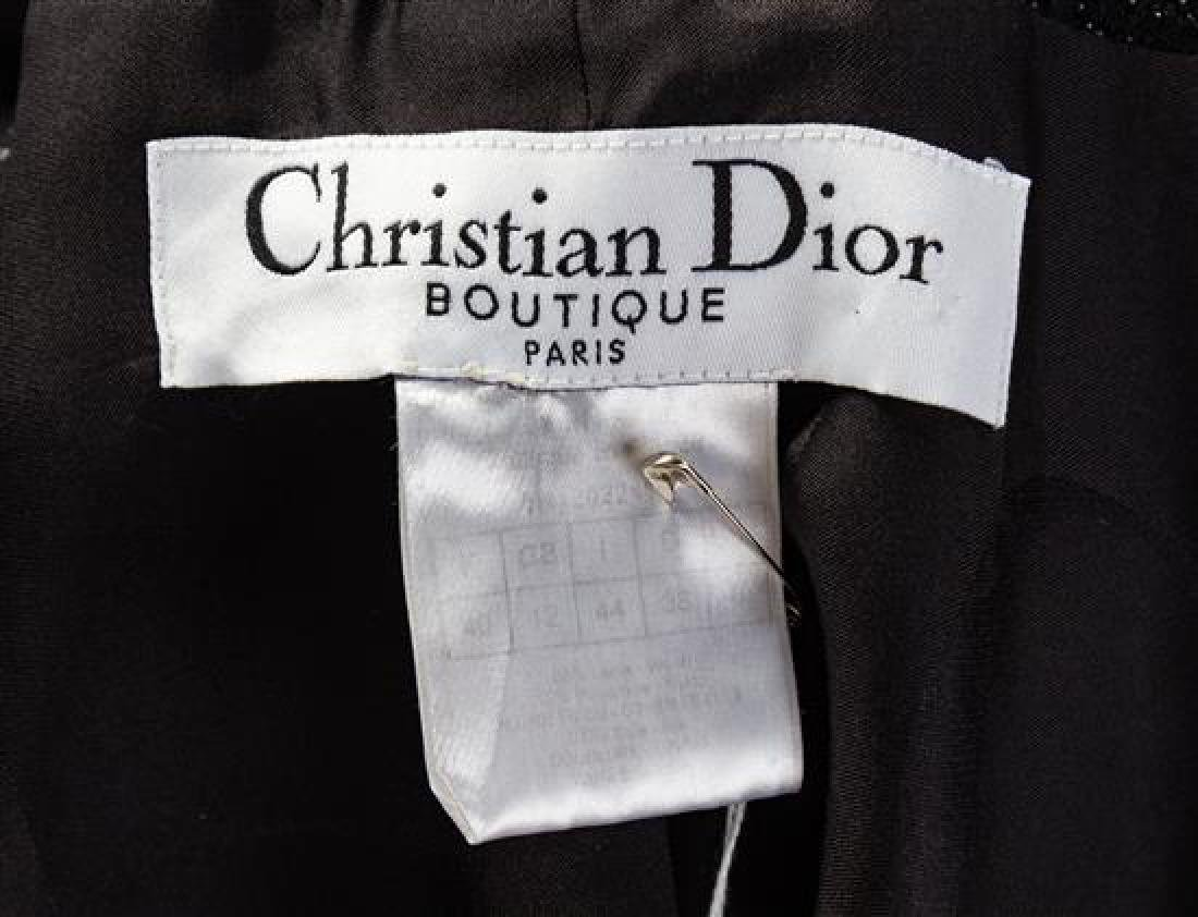 A Christian Dior Black Wool Shimmer Skirt Suit, Size - 2