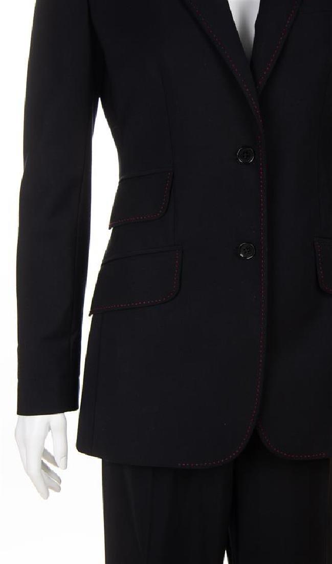A Dolce & Gabbana Black Wool Pant Suit, Size 40. - 2