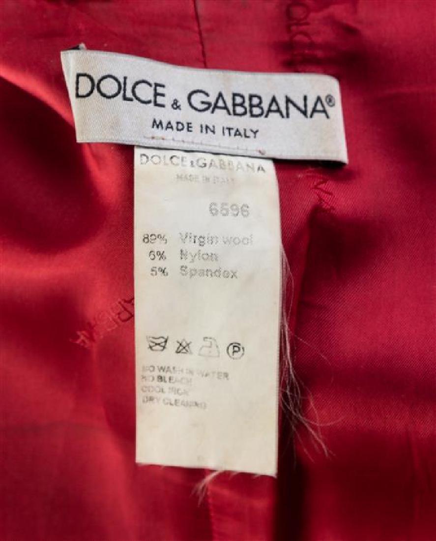 A Dolce & Gabbana Black Wool Pant Suit, Size 40. - 3