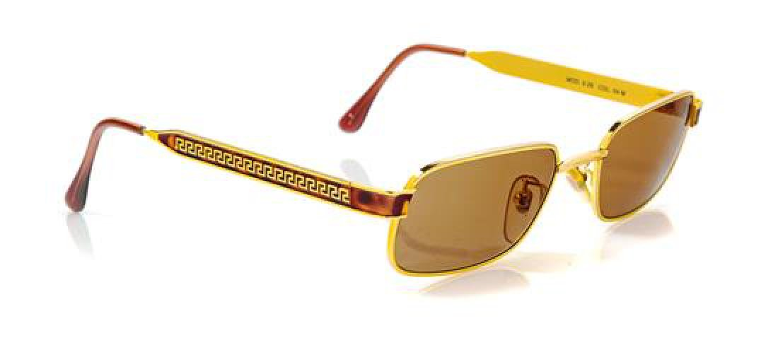 * A Pair of Versace Gold Frame Sunglasses,