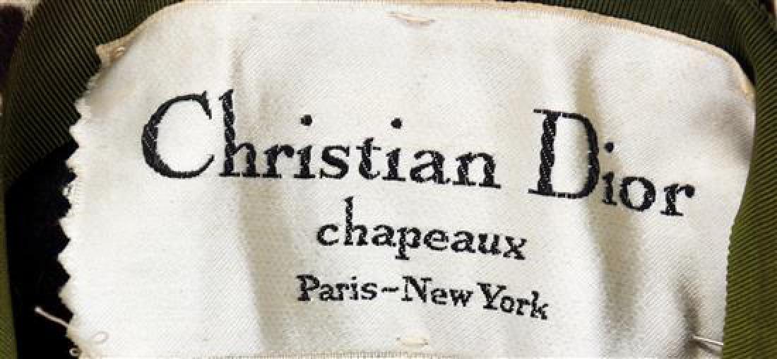 A Christian Dior Calfskin Animal Print Hat, No size. - 2