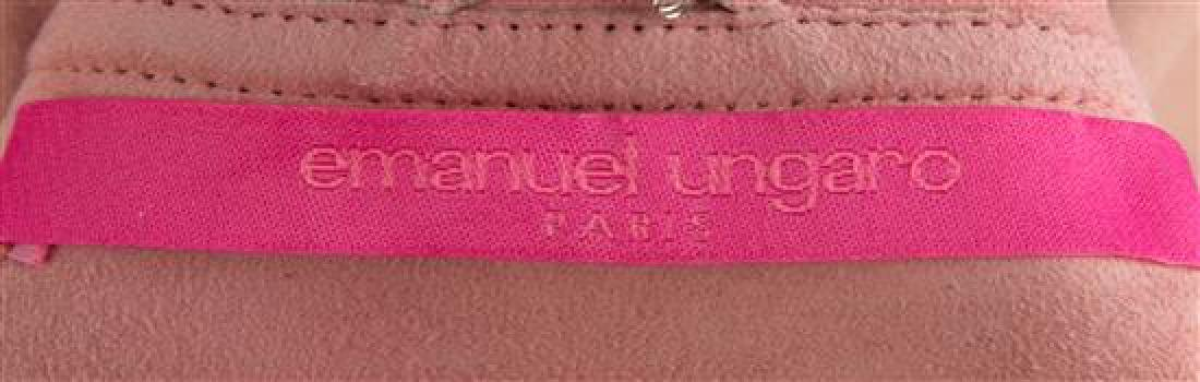 An Emanuel Ungaro Pink Suede Double Breasted Coat, Size - 2