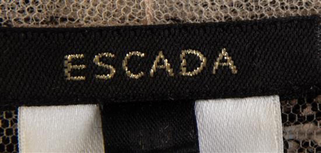 An Escada Black and Tan Sheer Bolero Jacket, Size 36. - 3