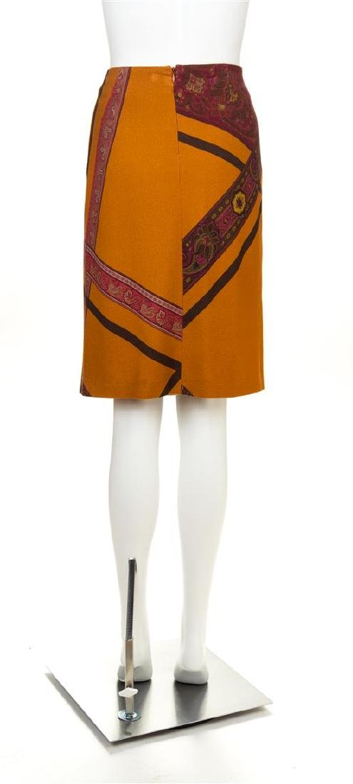 An Etro Orange Wool A-Line Skirt, Size 42. - 2