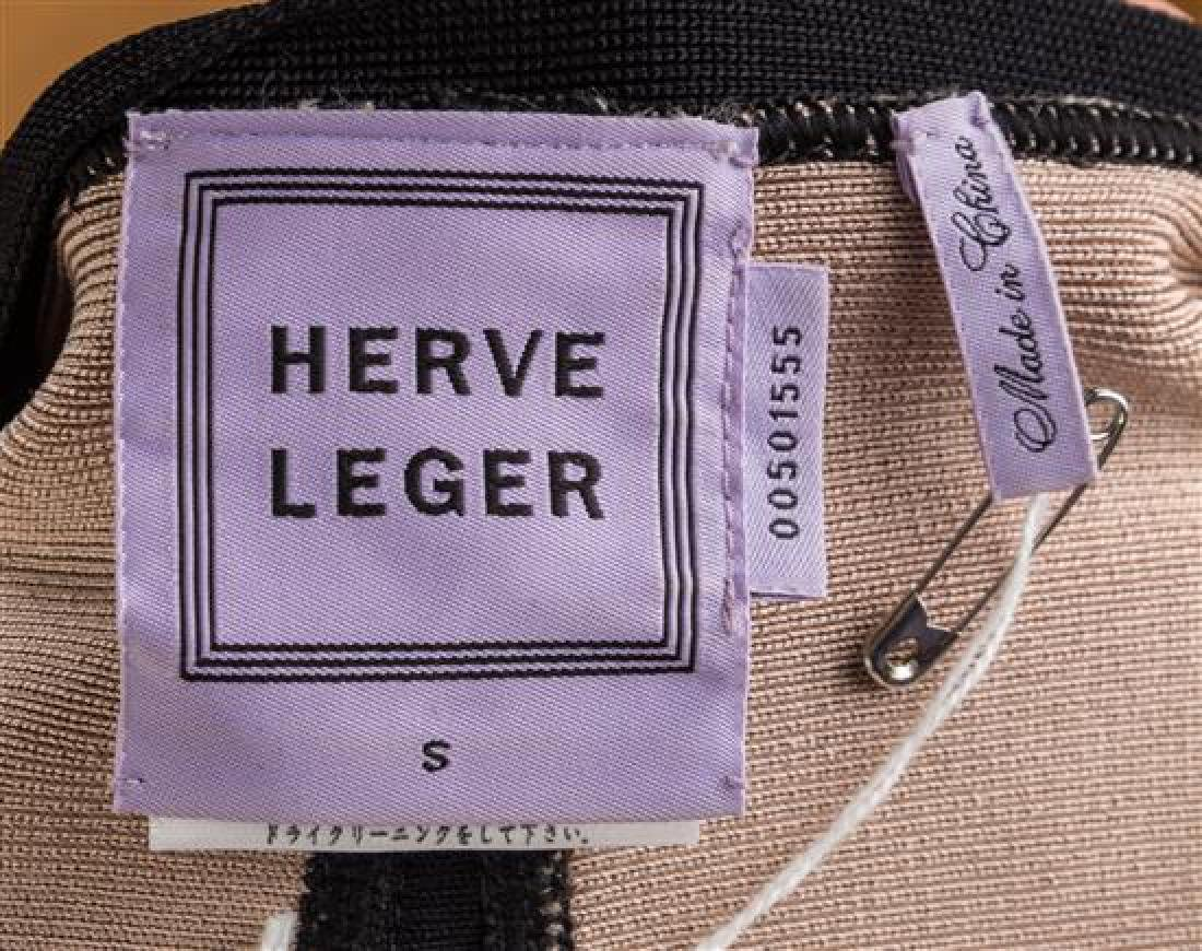 An Herve Leger Black and Tan Body Con Jacket, Size - 3