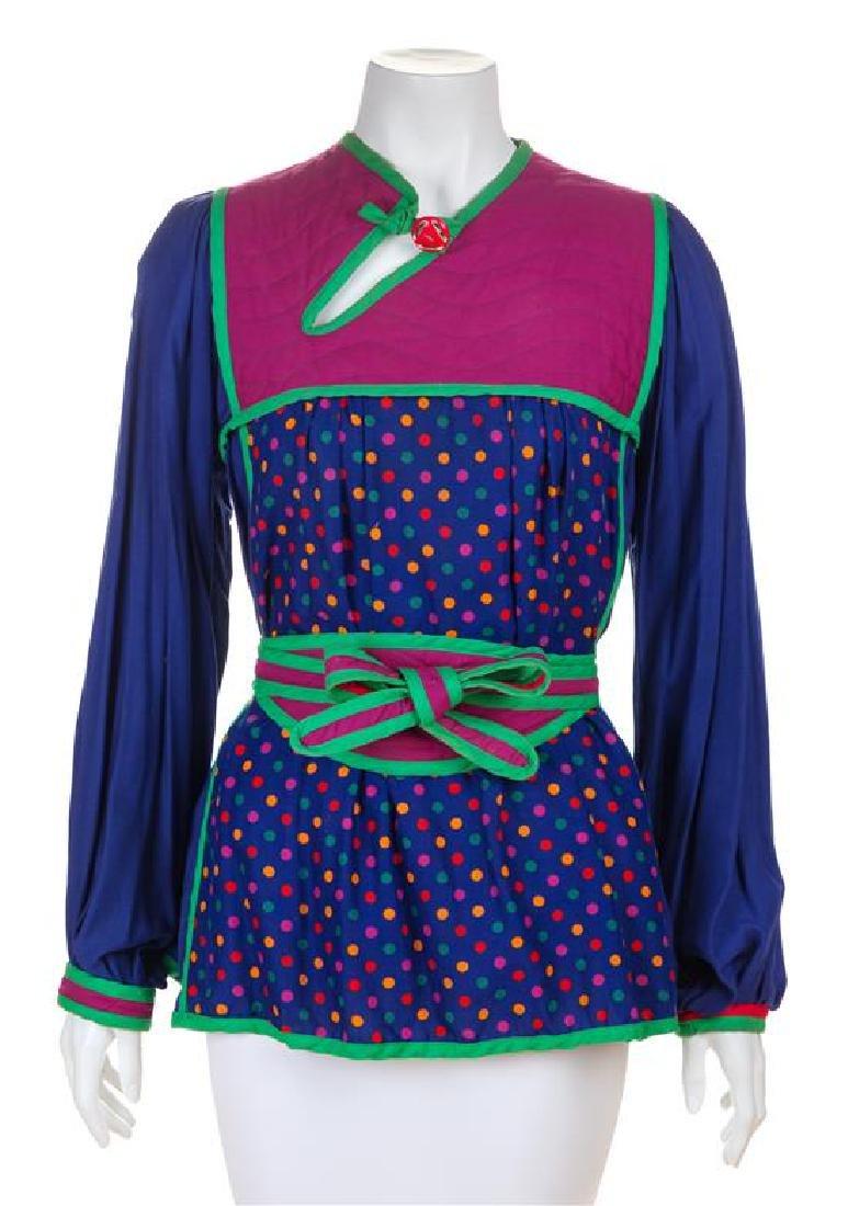 * A Jeanne-Marc Multicolor Cotton Top, No size.