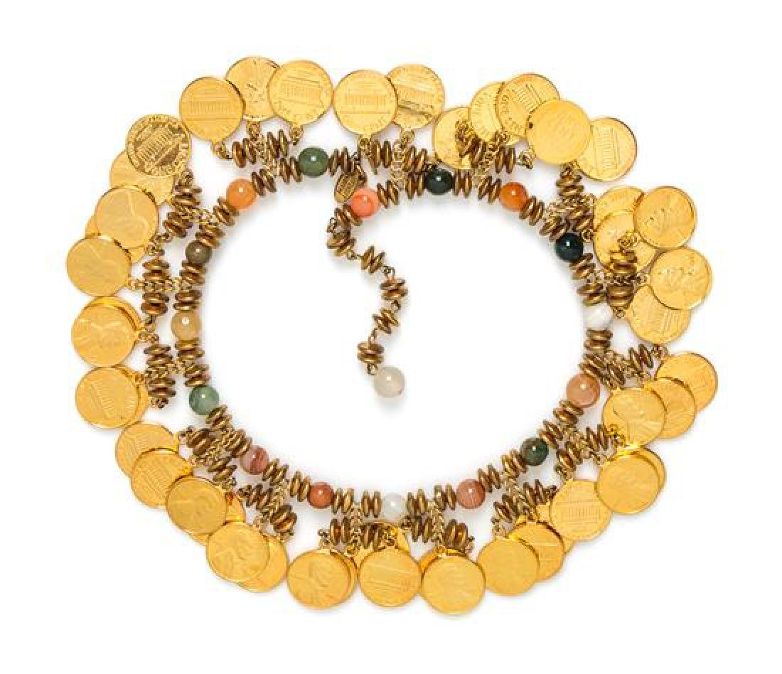 """A Miriam Haskell Penny Choker, 14""""- 16"""" x 1.25""""."""