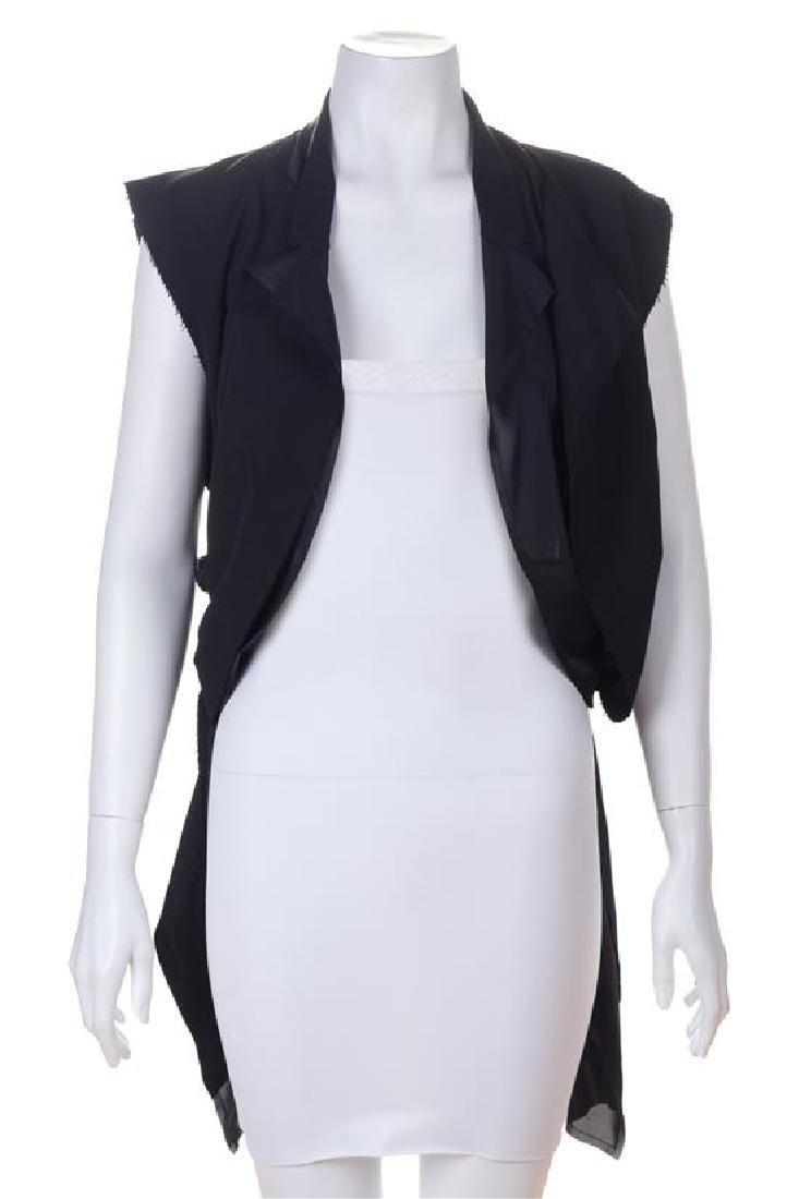 A Comme des Garcons Black Wool Layered Vest, Size