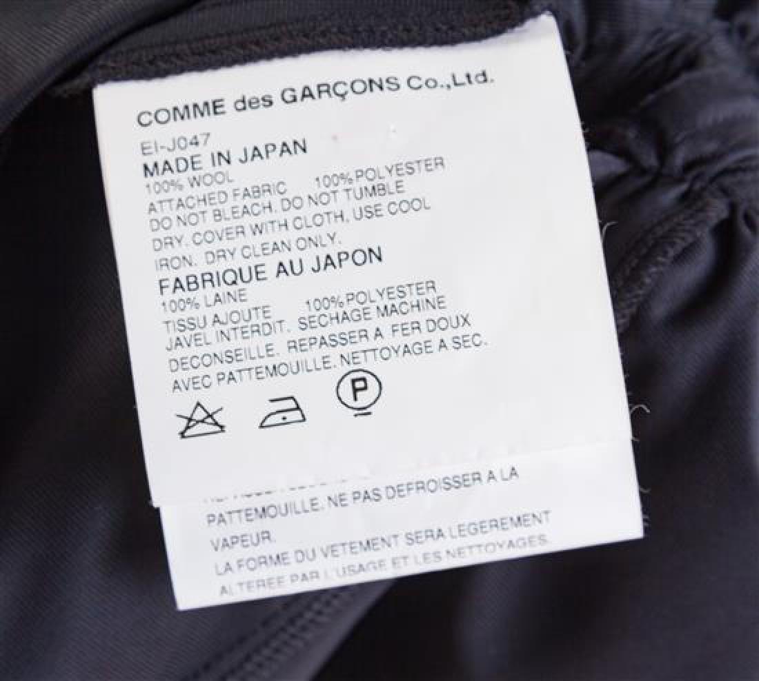 A Comme des Garcons Black Wool Layered Vest, Size - 2