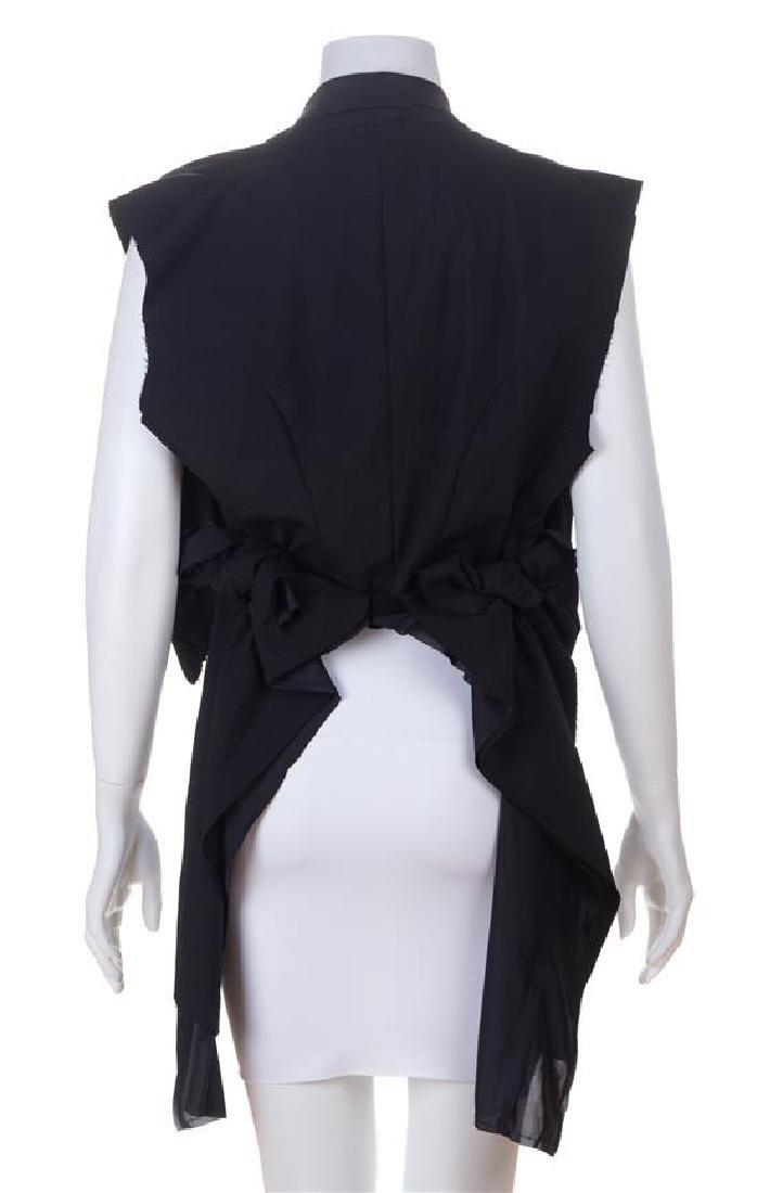 A Comme des Garcons Black Wool Layered Vest, Size - 3