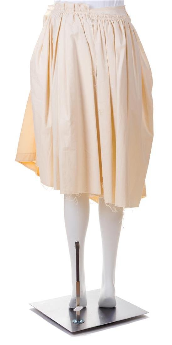 A Comme des Garcons Cream Cotton Skirt, Size small. - 2