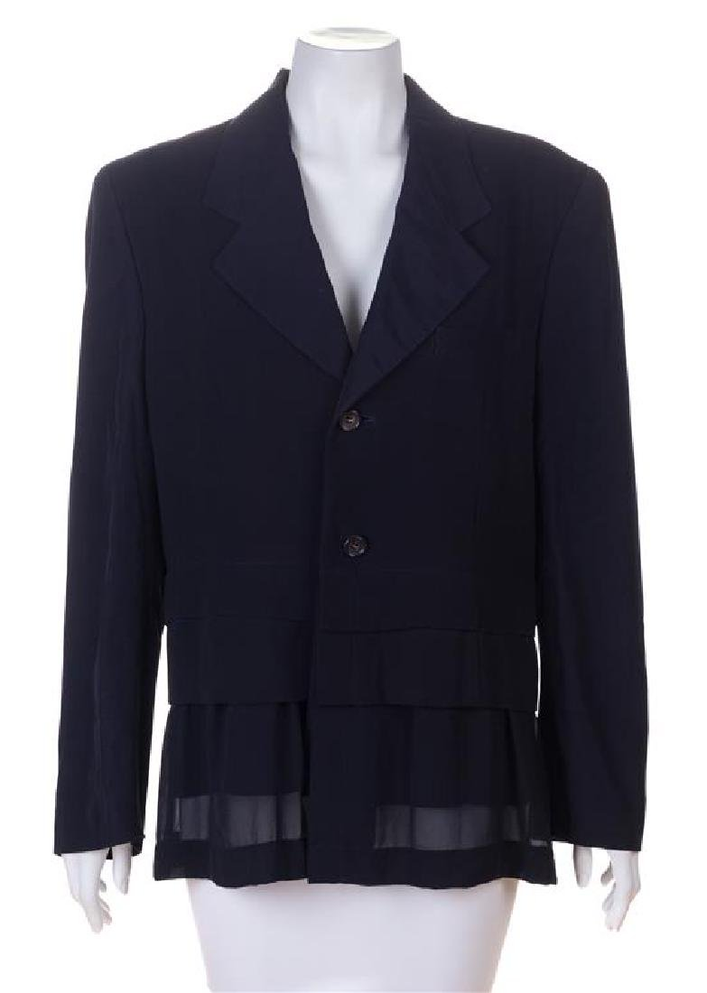 A Comme des Garcons Navy Jacket, Size medium.