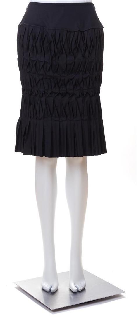 """A Junya Wantanabe Black """"Lantern"""" Skirt, Size small."""