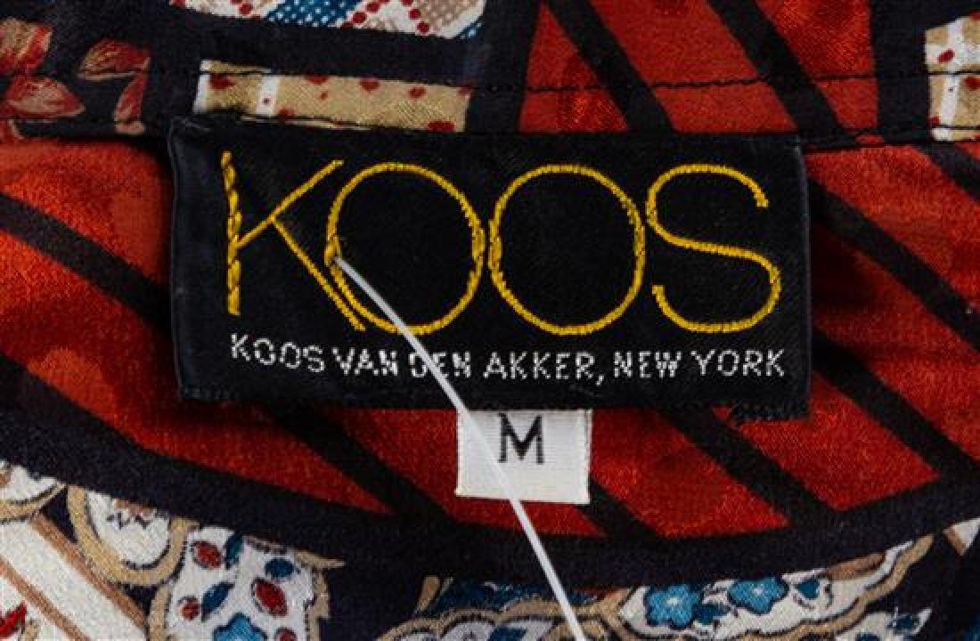 * A Koos Silk Multicolor Silk Geometric Skirt Ensemble, - 3