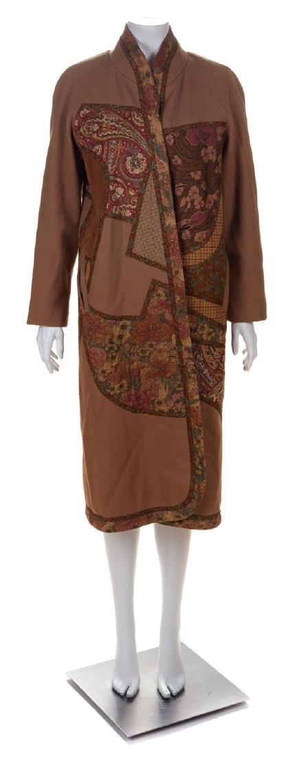 * A Koos Camel Wool Reversible Coat, No size.