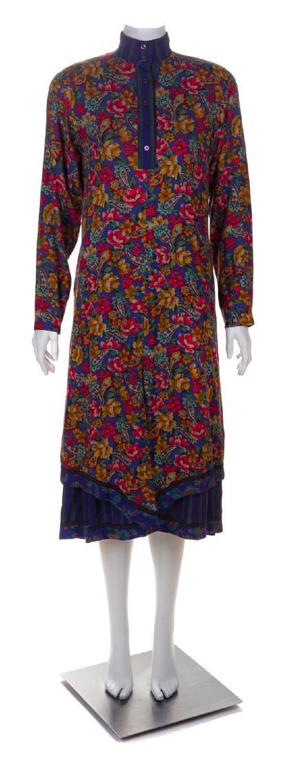 * A Koos Multicolor Cotton Floral Peasant Dress, No