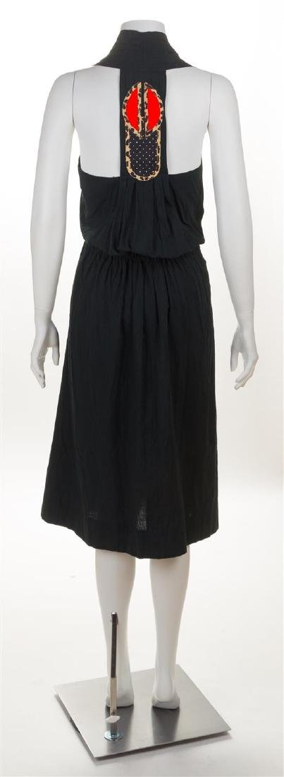 * A Koos Black Cotton Halter Dress, Size 12. - 2