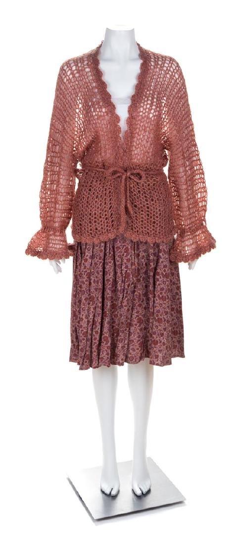 A Krizia Wrap Peasant Pleated Skirt, Skirt size 46;