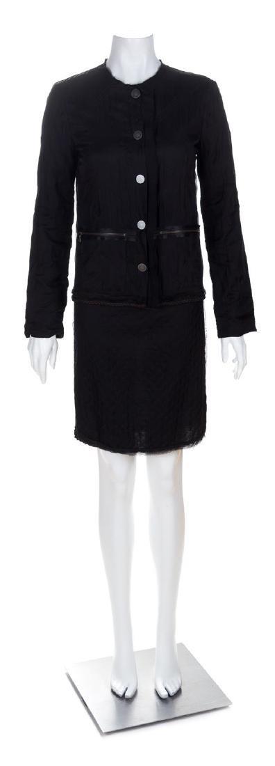 A Lanvin Black Dress Ensemble, Dress size small; Jacket