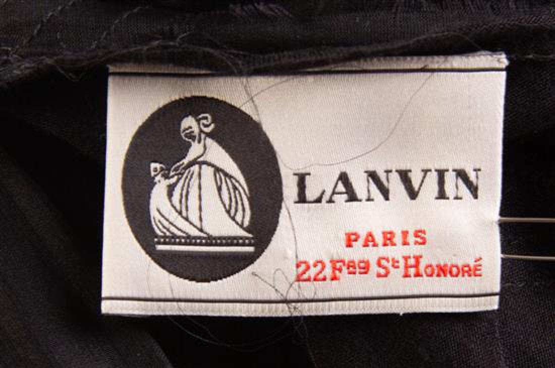 A Lanvin Black Dress Ensemble, Dress size small; Jacket - 3