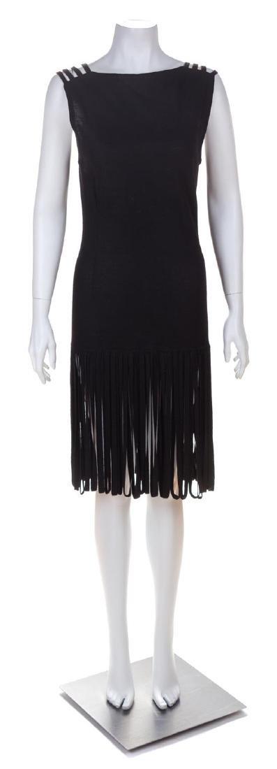 * A Laura Aponte Black Wool Flapper Dress, No size.