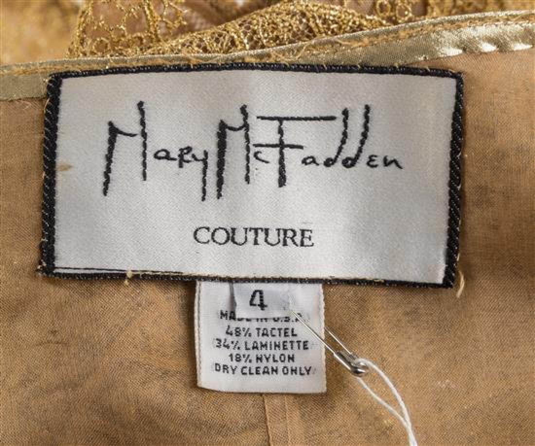 A Mary McFadden Gold Lace Bolero Jacket and Silk - 3