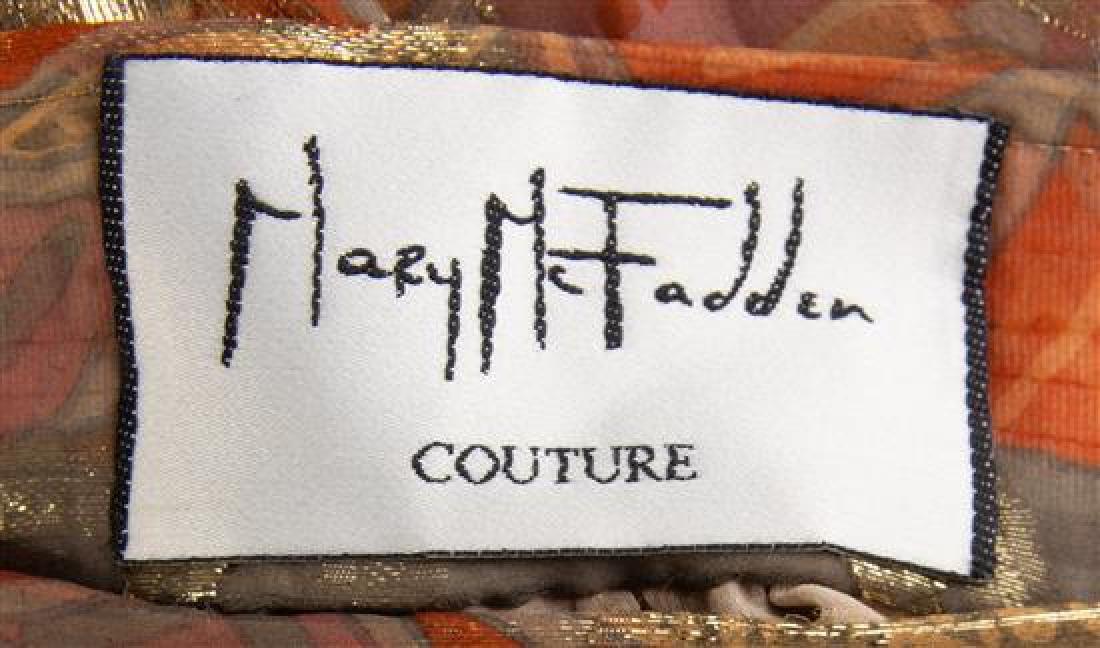 A Mary McFadden Gold Lace Bolero Jacket and Silk - 4