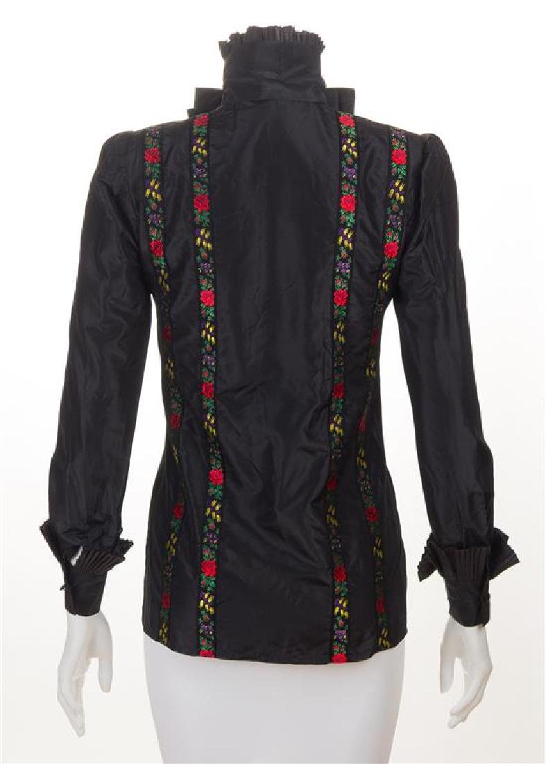 A Nina Ricci Black Silk Blouse, No size. - 2
