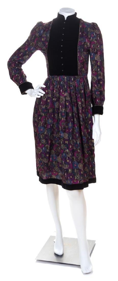 A Nina Ricci Multicolor Floral Dress, Size 36.
