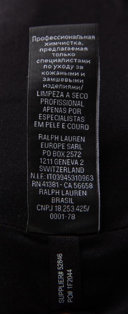 A Ralph Lauren Calf Hair Animal Print Moto Jacket, Size - 3