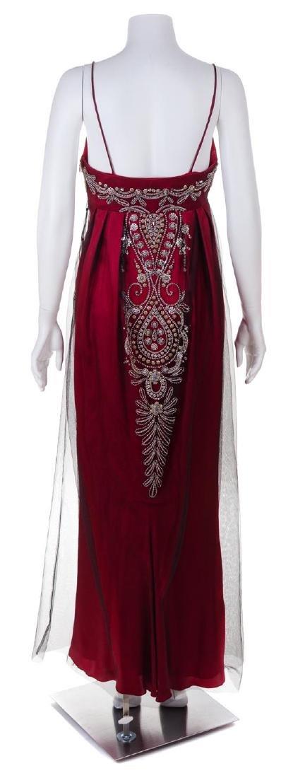 A Reem Acra Red Silk Evening Gown, Size 8. - 2
