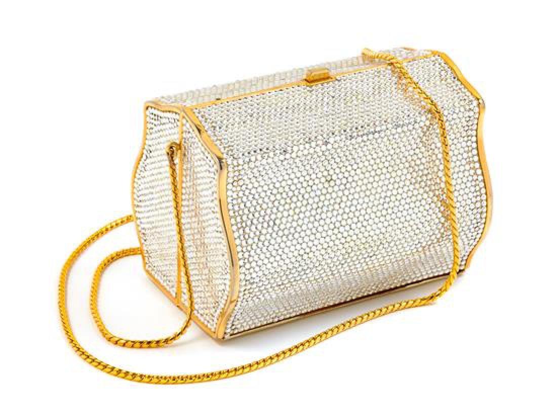 "A Judith Leiber Crystal Box Minaudiere, 5"" x 3.5"" x"