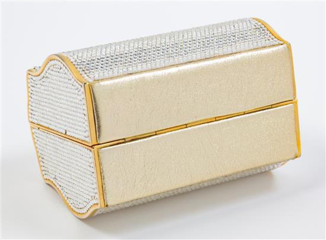 "A Judith Leiber Crystal Box Minaudiere, 5"" x 3.5"" x - 3"