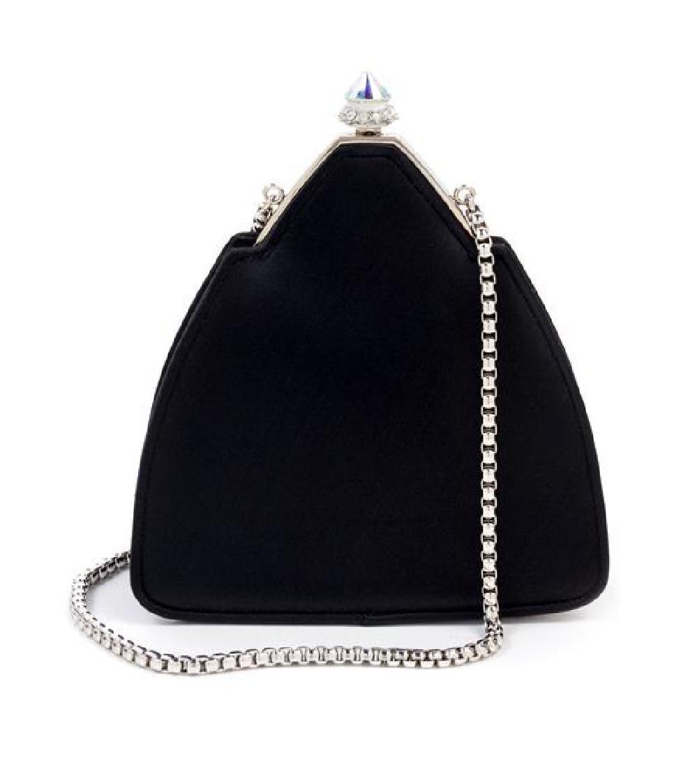 "A Judith Leiber Black Satin Pyramid Handbag, 5.5"" x"