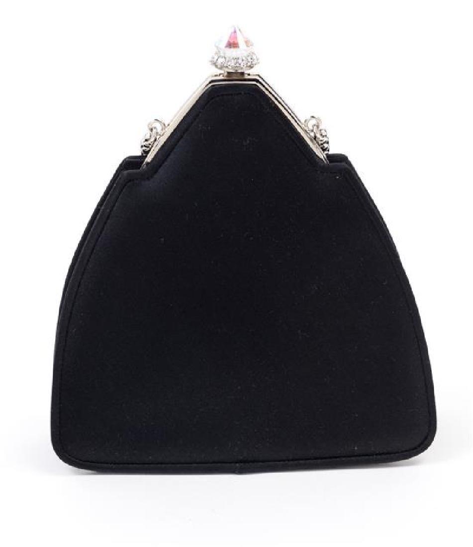 "A Judith Leiber Black Satin Pyramid Handbag, 5.5"" x - 3"